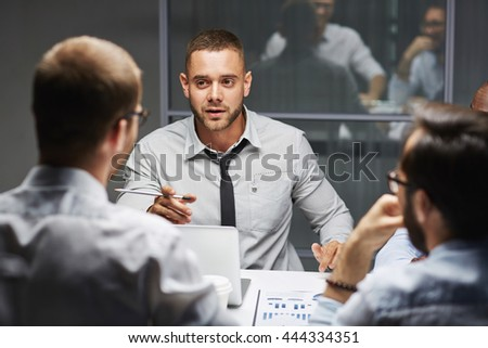 Colleagues talking - stock photo