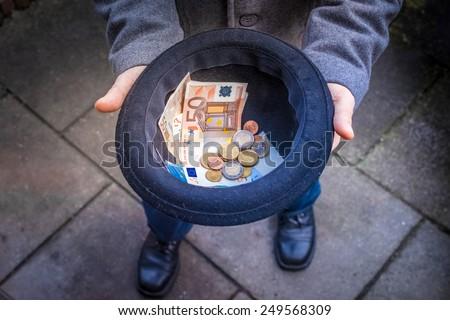 Collect Money - stock photo