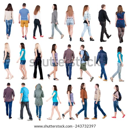 Walking People Logo Collection Back...