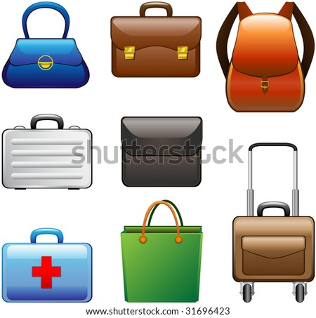 Collection Bags - stock photo
