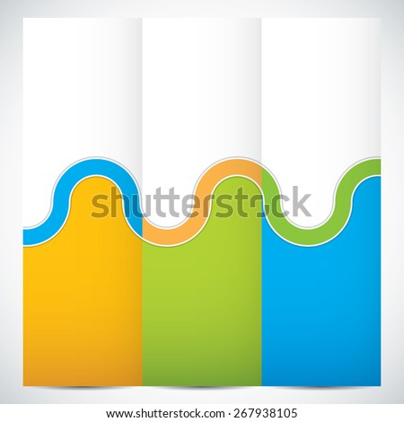 Collection banners modern wave design, colorful background - stock photo