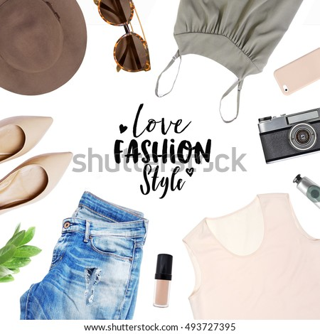 collection collage of women's clothing
