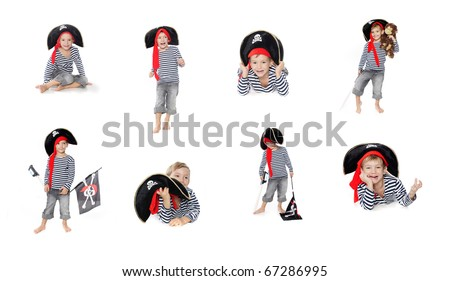 collection: cute boy dressed as pirate