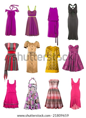 collection dress - stock photo