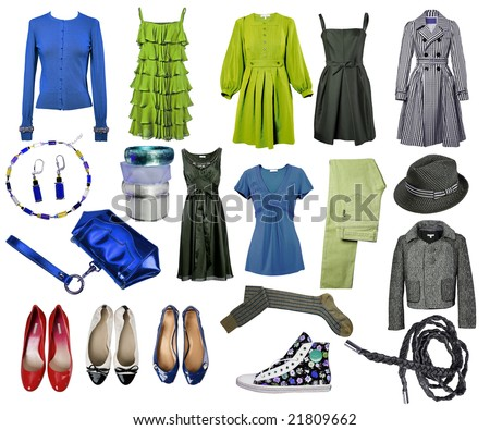 collection dress, shoes - stock photo