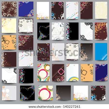 Collection flyers and posters. Raster version - stock photo