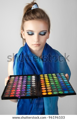 Collection for creative visage. - stock photo