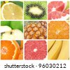 Collection fruits - stock photo