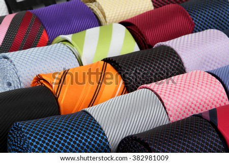 collection luxury tie, background  - stock photo