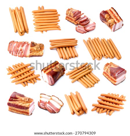 Collection meat - stock photo