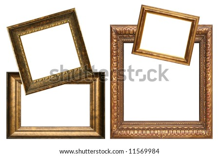 Collection of antique frames, add your own text. - stock photo