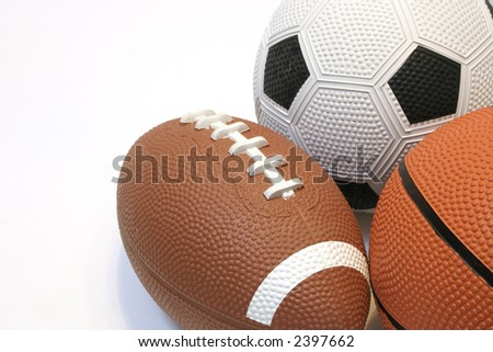 Collection of balls - stock photo