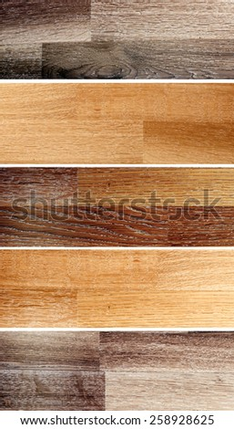 Collection of banners with oak parquet texture - stock photo