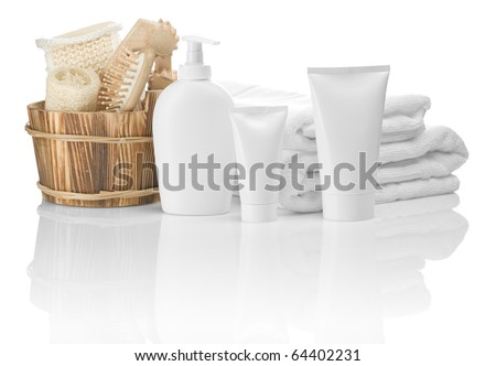 collection of bathing articles