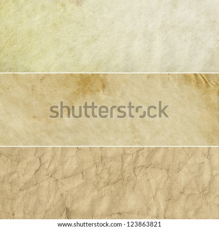 Collection of beige and light brown abstract vintage backgrounds. Various textures. - stock photo