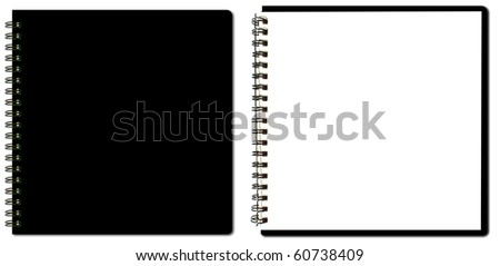 collection of black sketch book - stock photo