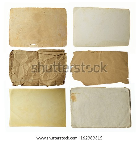Collection of blank old paper