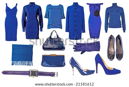 collection of blue dress