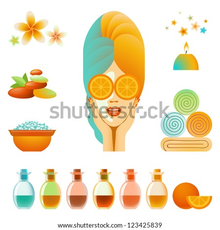 Collection of body care and skin care items - stock photo