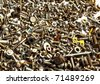Collection of bolts and nuts of different sizes - stock photo