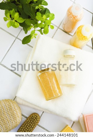Collection of bottles of health - stock photo