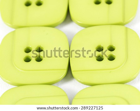 Collection of bright green  buttons - stock photo