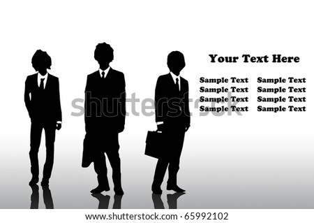 Collection of businessman - stock photo