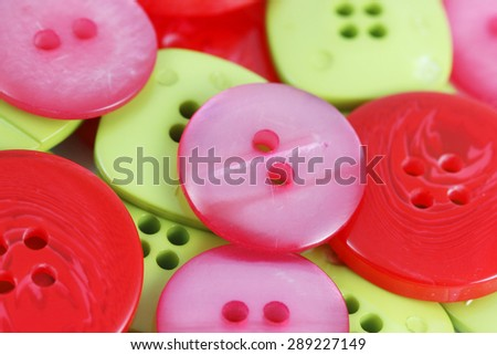 Collection of buttons - stock photo