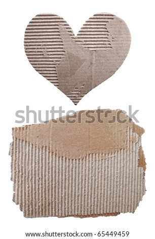 Collection of cardboard - stock photo