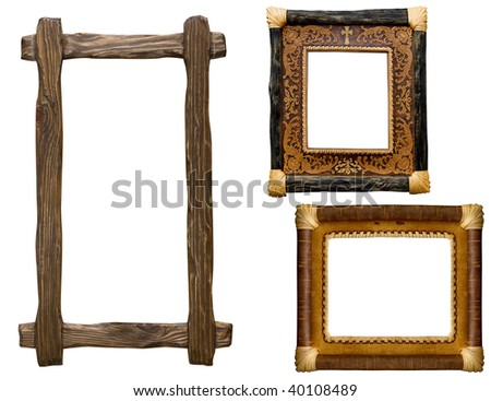 collection of carved decorative  frame - stock photo