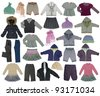 collection of children clothes - stock photo
