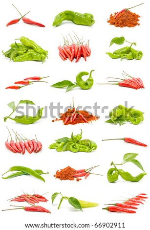 collection of chillies and peppers