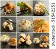 collection of chinese food - stock photo