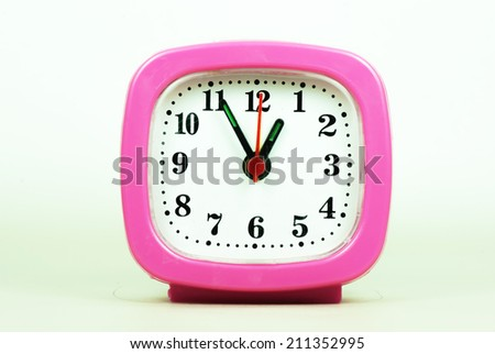 collection of clock From 12:00 to 1:00 AM and PM isolated in white background - stock photo