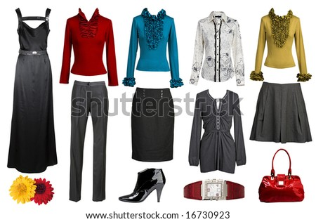 collection of clothes - stock photo