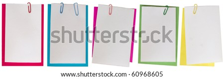 collection of colored notes