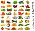 collection of colorful and fresh vegetables - stock photo
