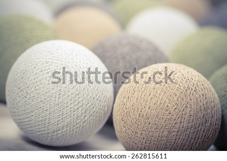 collection of  colourful   wool balls on white background - stock photo