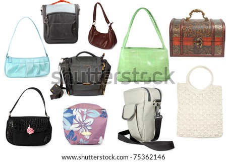 collection of different bags