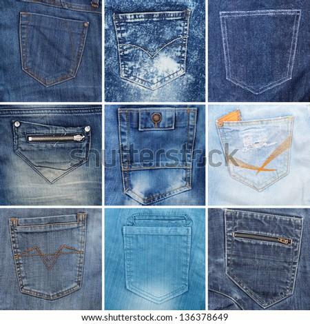 Рисунки на задних карманах джинс