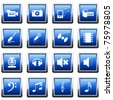 Collection of different music themes icons - stock photo