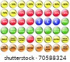 Collection of discount buttons - stock photo