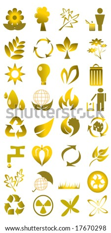 collection of ecological icons