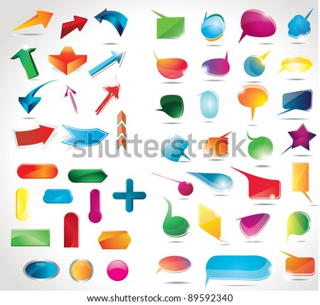 Collection of elements for web design - stock photo