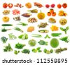 collection of food - stock photo