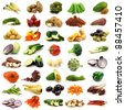 collection of fresh and colorful vegetables - stock photo