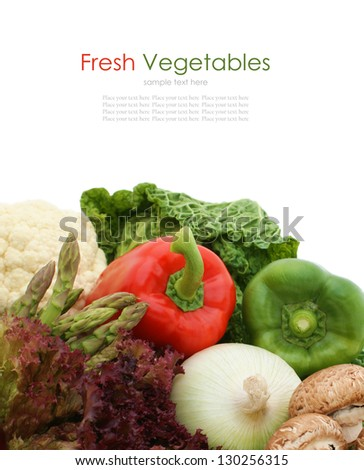 Collection of fresh healthy vegetables