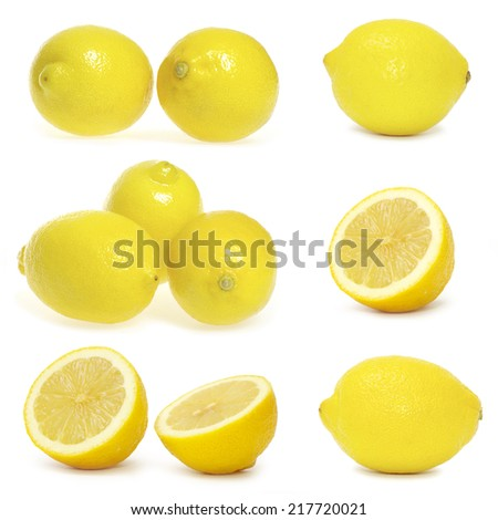 collection of fresh lemons - stock photo