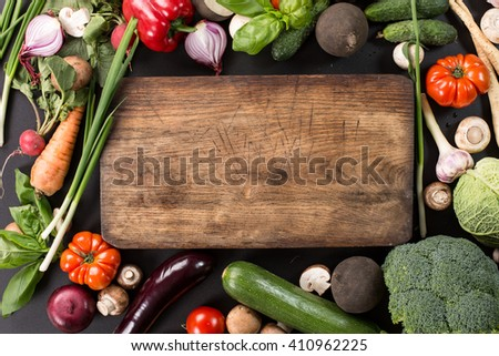 Collection of fresh vegetables - stock photo
