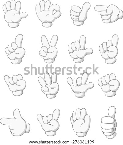 Collection of hand sign